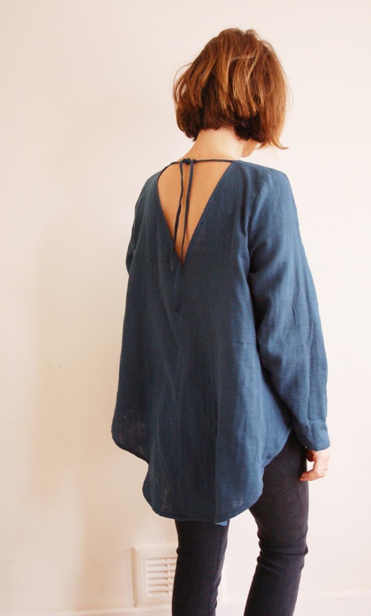 v neck back tunic 2