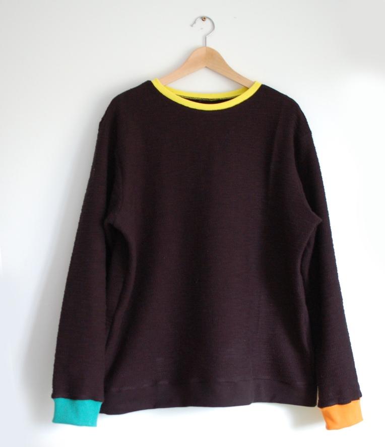 Mens contrast sweatshirt