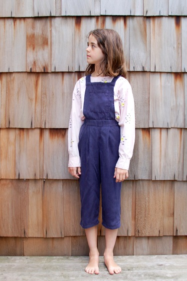 refashioned culotte dungarees and shirt